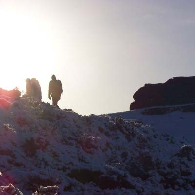 Walkers on Curbar Edge