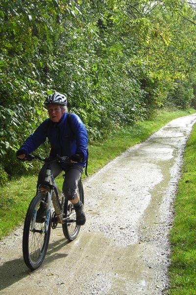 Tissington Trail mountain bike rider.